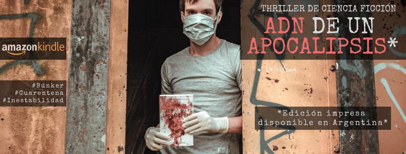 Lucas Seimandi, tiene 26 años, es oriundo de Crespo y en marzo publicó el libroADN de un Apocalipsis. El relato tiene muchas similitudes con la realidad que los argentinos están viviendo con respecto al Coronavirus.